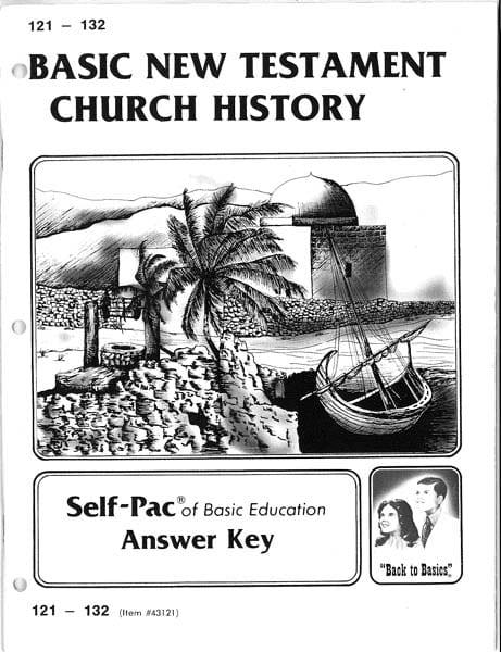 New Testament Church History Key 121-132