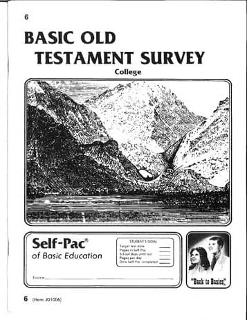 Old Testament Survey 1 from Accelerated Christian Education