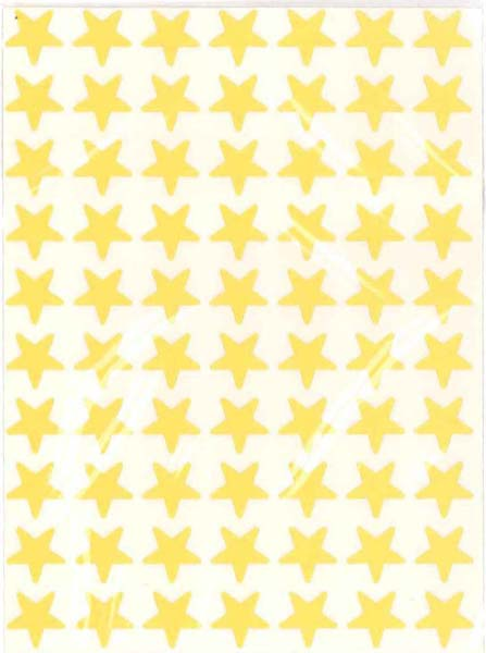 Yellow Star Stickers (280) from Accelerated Christian Education