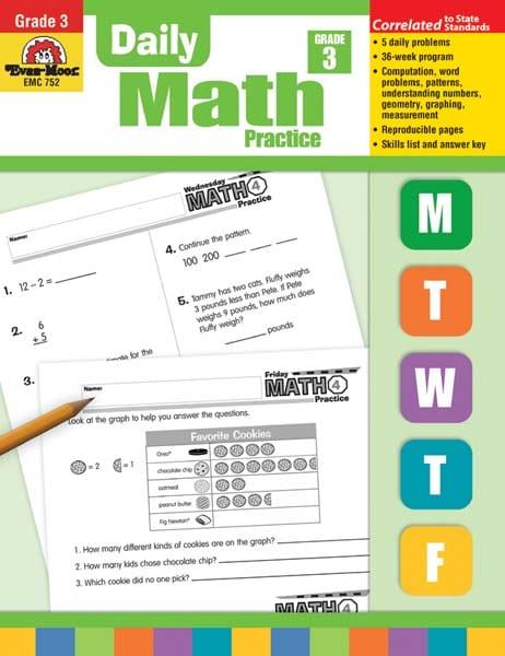 Evan moor daily math practice grade 3 pdf