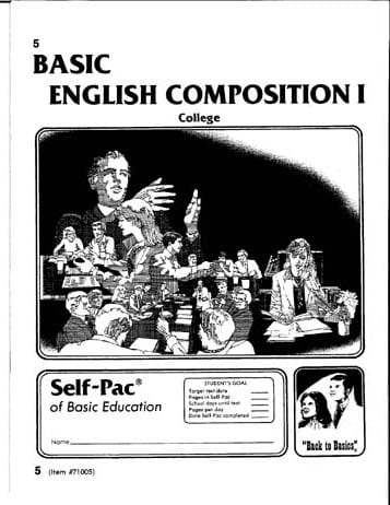 English Composition I Unit 7 from Accelerated Christian Education