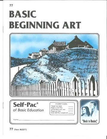 Beginning Art Unit 11 (Pace 83) from Accelerated Christian Education