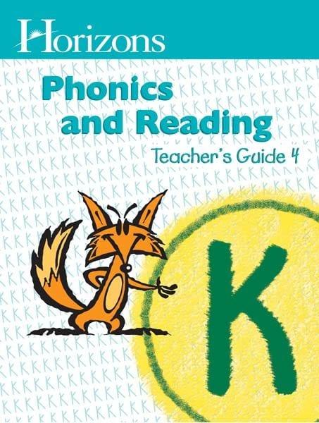 Horizons Kindergarten Phonics & Reading Teacher's Guide 4 from Alpha Omega Publications