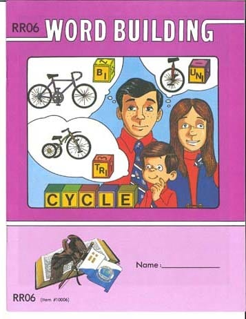 Reading Readiness Word Building Pace 12 from Accelerated Christian Education