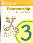 Horizons 3rd Grade Penmanship Teacher's Guide from Alpha Omega Publications