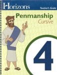 Horizons 4th Grade Penmanship Teacher's Guide from Alpha Omega Publications