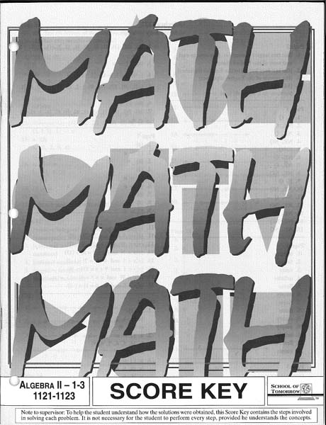 Algebra II Key 1121-1123 from Accelerated Christian Education