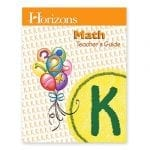 Horizons Kindergarten Math Teacher's Guide from Alpha Omega Publications