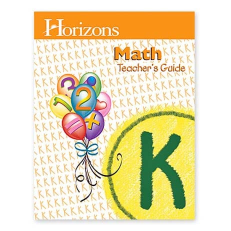 Horizons Kindergarten Math Teacher's Guide from Alpha Omega Publications
