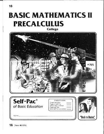 PreCalculus Pace 16