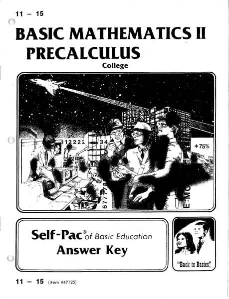 Precalculus Key 11-15