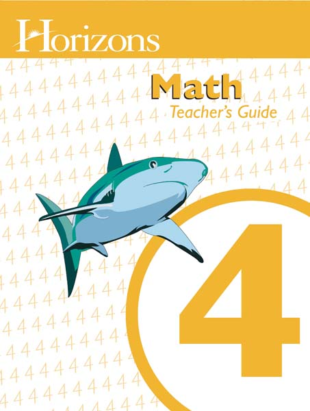 Horizons 4th Grade Math Teacher's Guide from Alpha Omega Publications