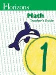 Horizons 1st Grade Math Teacher's Guide from Alpha Omega Publications