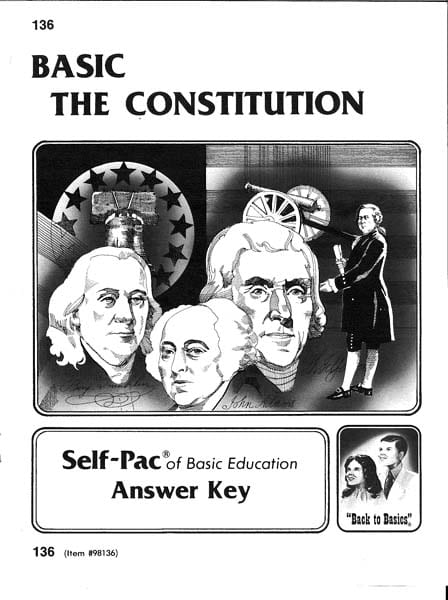 Constitution Key 136 from Accelerated Christian Education