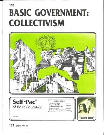 Collectivism Unit 1 (Pace 133) (High School) from Accelerated Christian Education