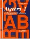 Algebra 1 Homeschool Third Edition Solutions Manual from Saxon Math