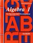 Algebra 1 Third Edition Homeschool Packet w/Test Forms and Answer Key from Saxon Math