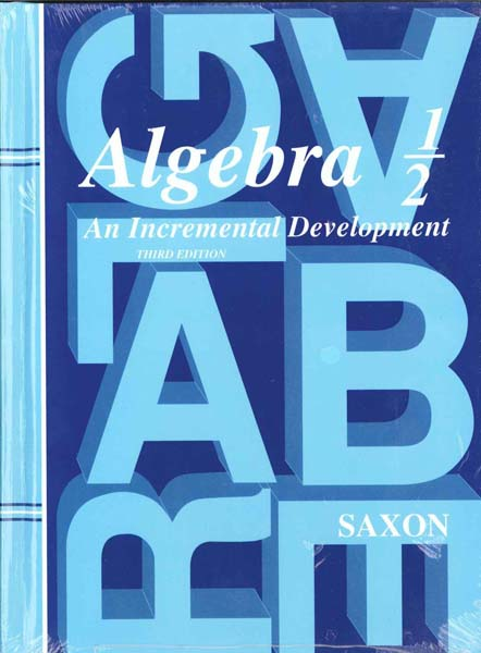 Algebra 1/2 Homeschool Kit w/Solutions Manual Third Edition from Saxon Math