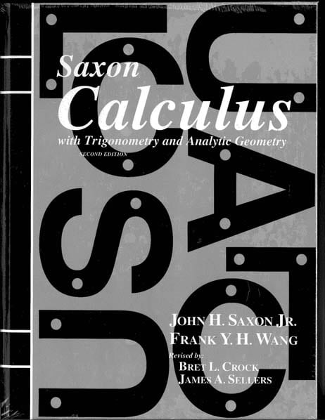 Calculus Homeschool Kit w/Solutions Manual from Saxon Math