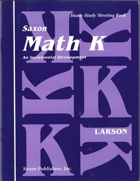 Math K Homeschool Complete Kit 1st Edition from Saxon Math