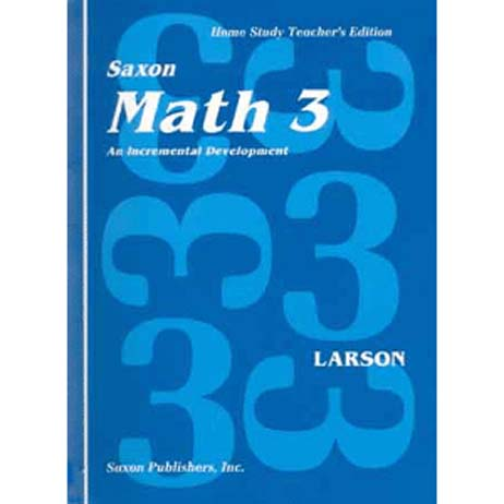 Math 3 Homeschool First Edition Teacher's Manual from Saxon Math