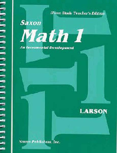 Math 1 Homeschool Teacher's Manual First Edition from Saxon Math