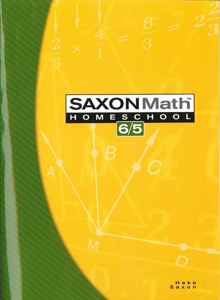 Math 6/5 Homeschool Student Edition, Third Edition from Saxon Math