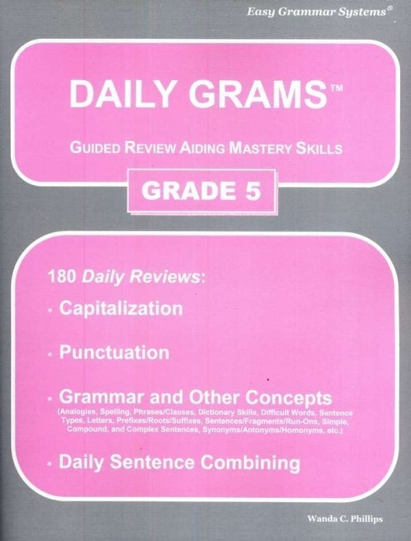 Daily Grams: Grade 5 Teacher Text from Easy Grammar Systems