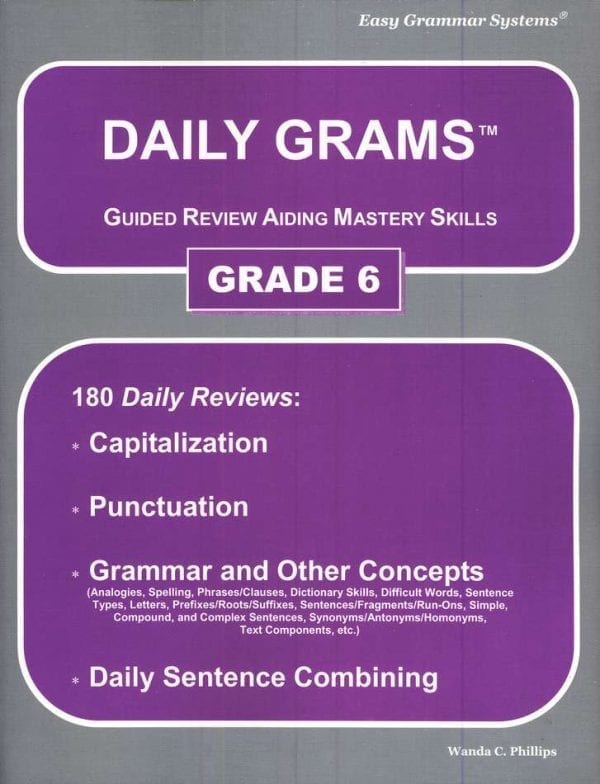 Daily Grams: Grade 6 Teacher Text from Easy Grammar Systems