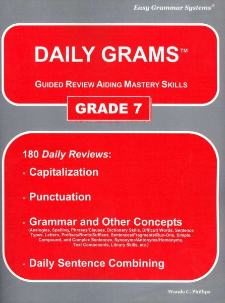 Daily Grams: Grade 7 Teacher Text from Easy Grammar Systems