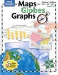 Maps, Globes and Graphs Level D Teacher's Guide by Steck-Vaughn