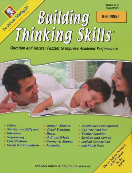 Building Thinking Skills Beginning, Toddler-PreK, from The Critical Thinking Company