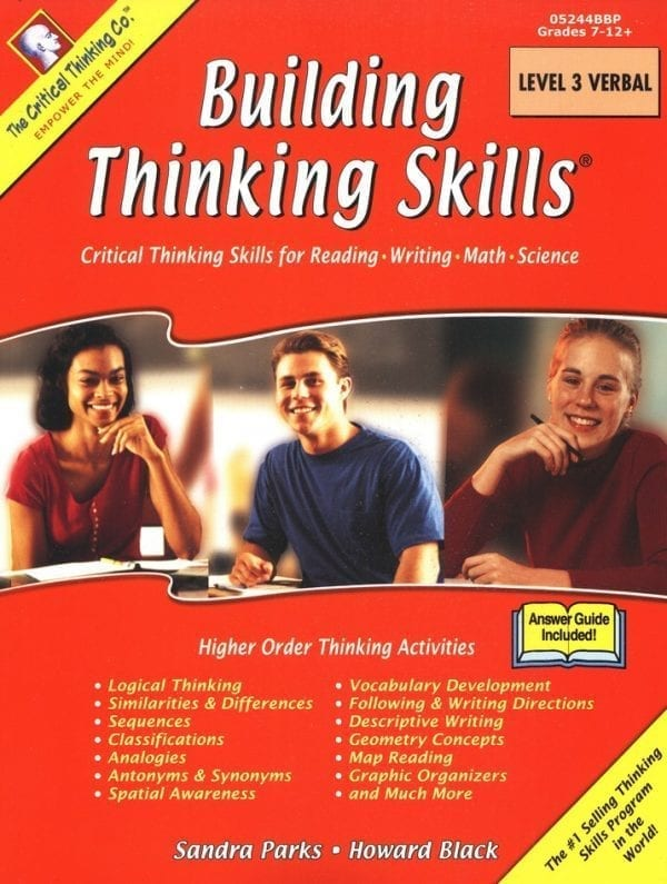 Building Thinking Skills: Level 3 Verbal, Grades 7-12+, from The Critical Thinking Company