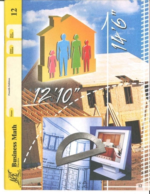 Business Math Book 12 from Accelerated Christian Education