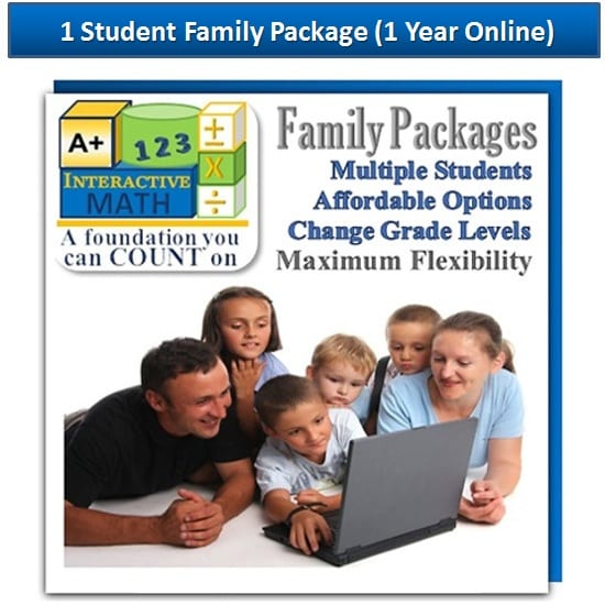 1 Student Family Math Package Online Edition from A+