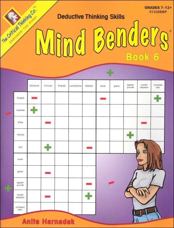 the critical thinking company mind benders Critical thinking company, the view all  $2999 building thinking skills®,  level 3 figural, grades 7 and up  mind benders®, level 1, grades prek-k.