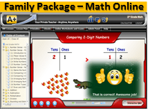 4 Students Family Package Online Edition from A+ Interactive Math