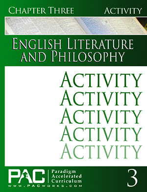 English IV: Legacy of Freedom Chapter 3 Activities from Paradigm Accelerated Curriculum