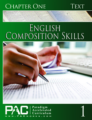 English II: Composition Skills Chapter 1 Text from Paradigm Accelerated Curriculum
