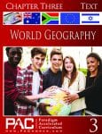 World Geography Chapter 3 Text from Paradigm Accelerated Curriculum