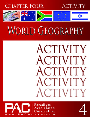 World Geography Chapter 4 Activities from Paradigm Accelerated Curriculum