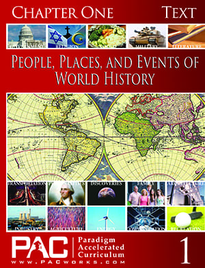 World History Chapter 1 Text from Paradigm Accelerated Curriculum