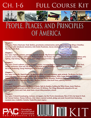 The People, Places and Principles of America First Year Kit from Paradigm Accelerated Curriculum