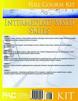 Intermediate Math Skills from Paradigm Accelerated Curriculum