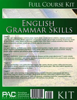 English Grammar Skills Kit from Paradigm Accelerated Curriculum