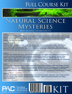 Natural Science Mysteries Kit from Paradigm Accelerated Curriculum