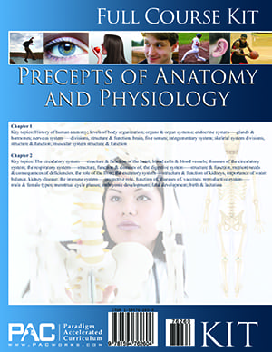 Precepts of Anatomy and Physiology Full Course Kit from Paradigm Accelerated Curriculum