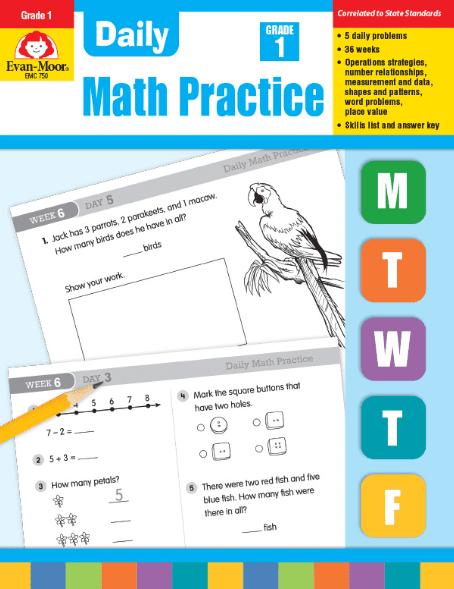 Daily Math Practice Grade 1 from Evan-Moor