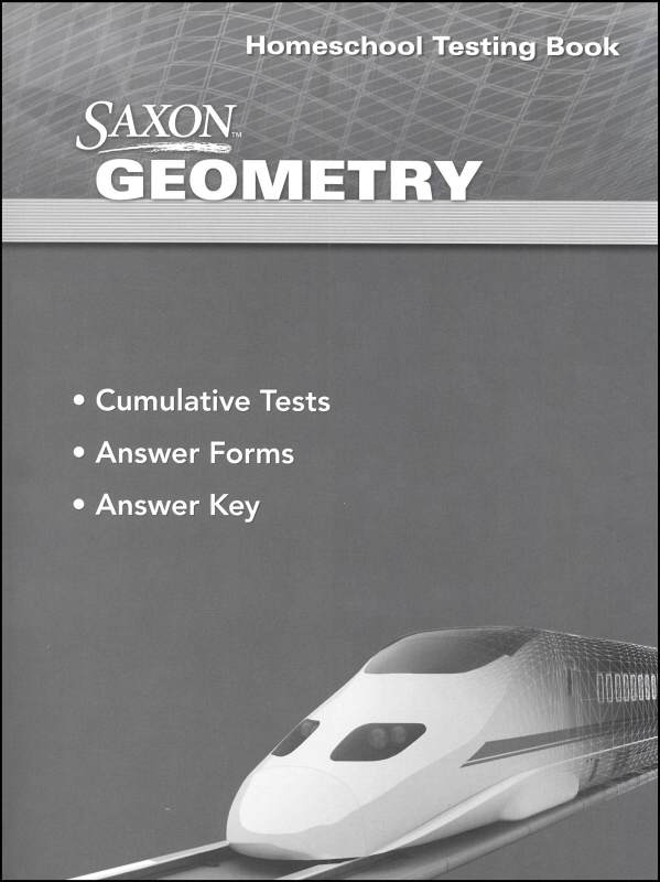 Geometry Homeschool First Edition Testing Book from Saxon Math