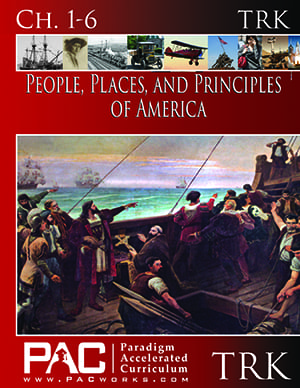 The People, Places, and Principles of America Teacher's Resource Kit from Paradigm Accelerated Curriculum